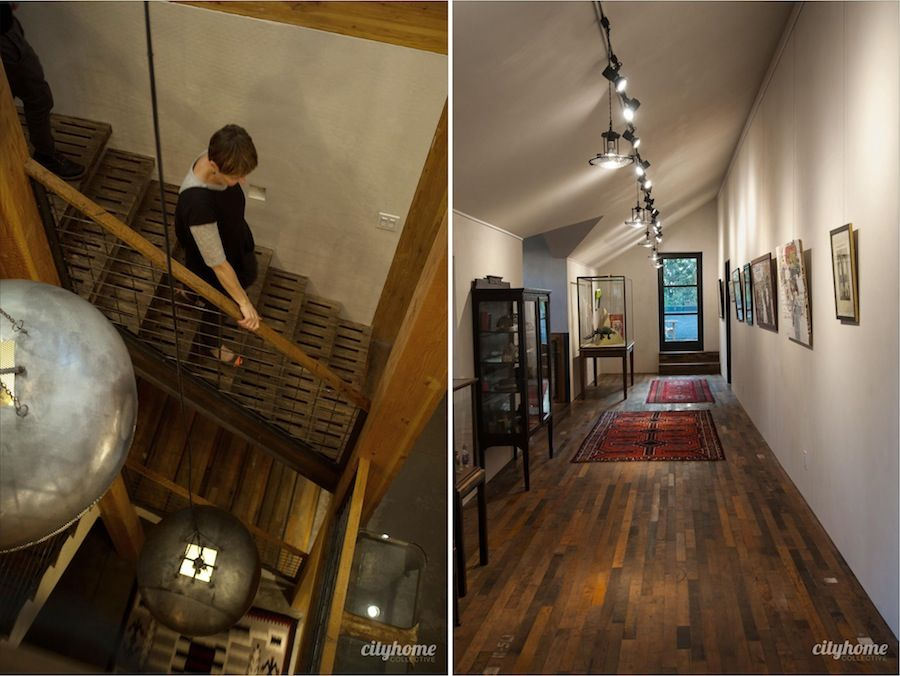andy on stairs and gallery #gullyhouse