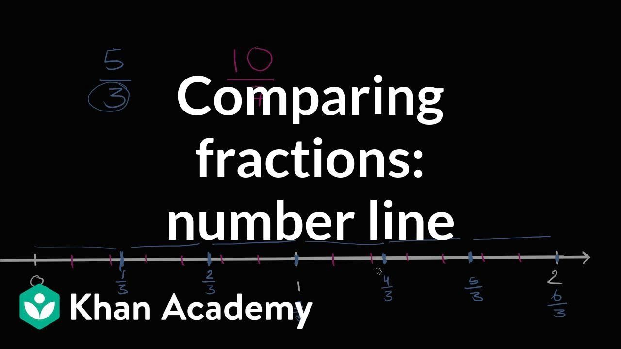 Comparing Fractions On A Number Line Fractions 4th Grade Khan Academy In 2020 Free Math Worksheets Math Worksheets Free Math