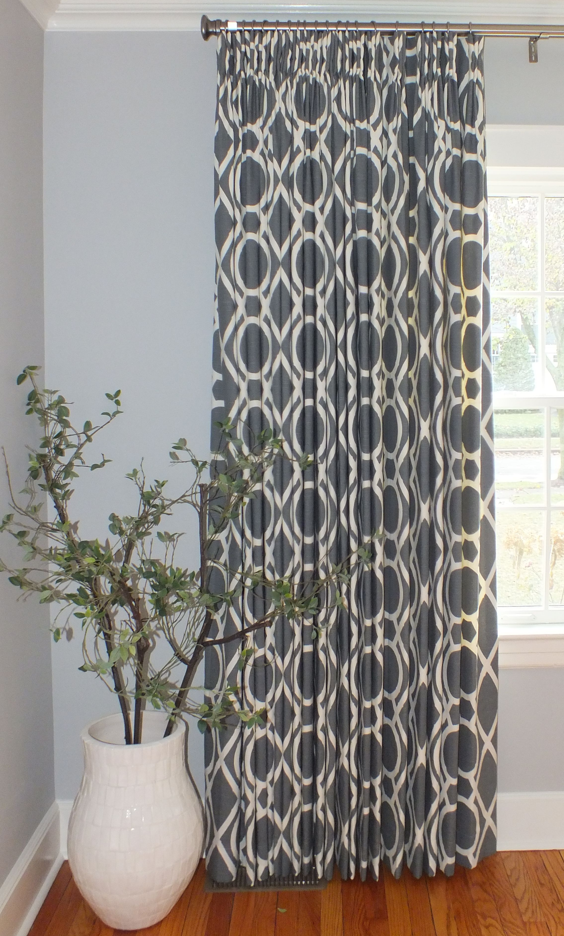 Custom window treatments. www.contemporarycolorconcepts.com.