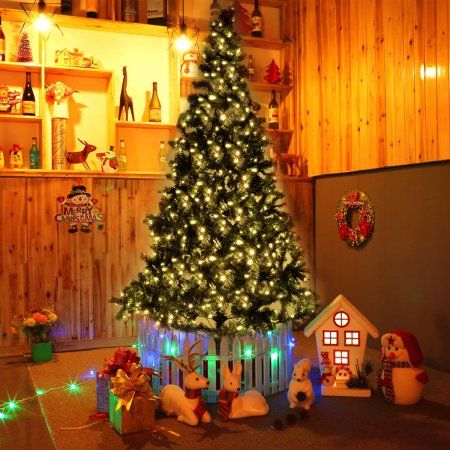 Costway 8 ft Pre-lit Artificial Christmas Tree w/450 LED Lights
