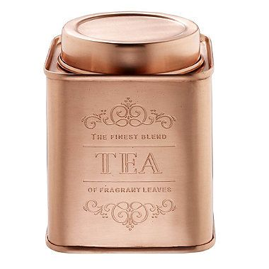Copper Tea Canister From Lakeland Coffee Sugar Jars Tins Rose Gold