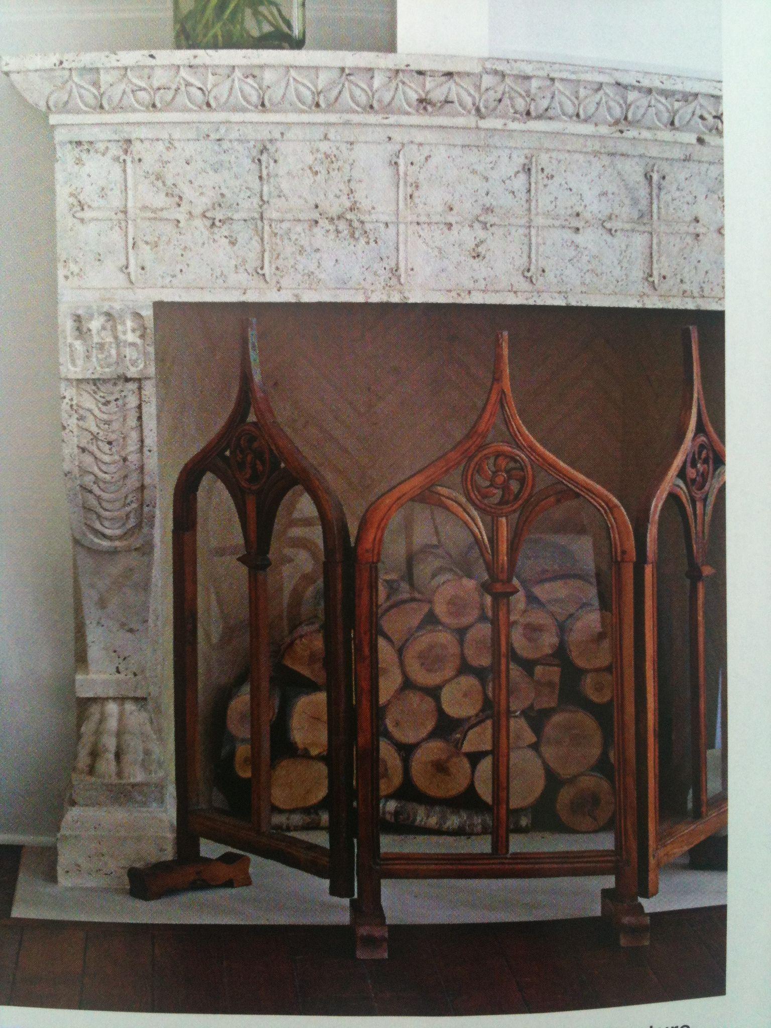 Gothic Fireplace Screen Decor Living Room Mantel Home Decor