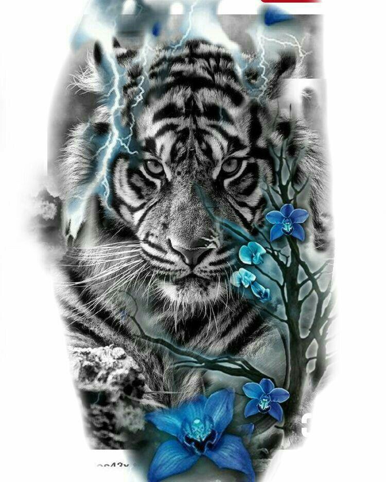 42e649a467df Animal tatts Leo Tattoos, Badass Tattoos, Body Art Tattoos, Future Tattoos,  Tiger