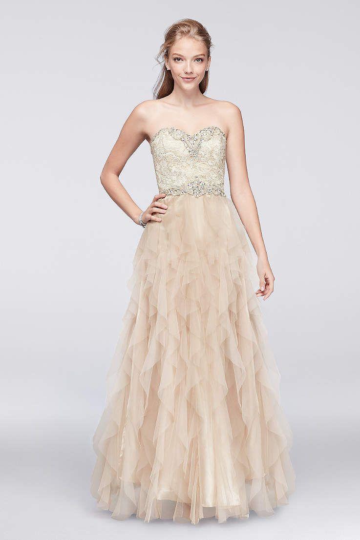 Prom dresses u gowns for u davidus bridal prom