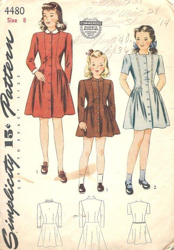 1930 Children Dress patterns | LAURIE MORTON 1930s Girls Dress ...