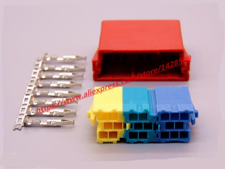 10 Set Universal Female ISO Radio connector ISO Adapter Connector ...