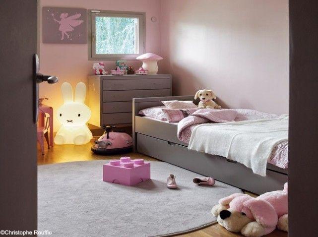 peinture rose chambre fille une chambre d enfant pour bien dormir d coration - Peinture Gris Et Rose Pour Chambre