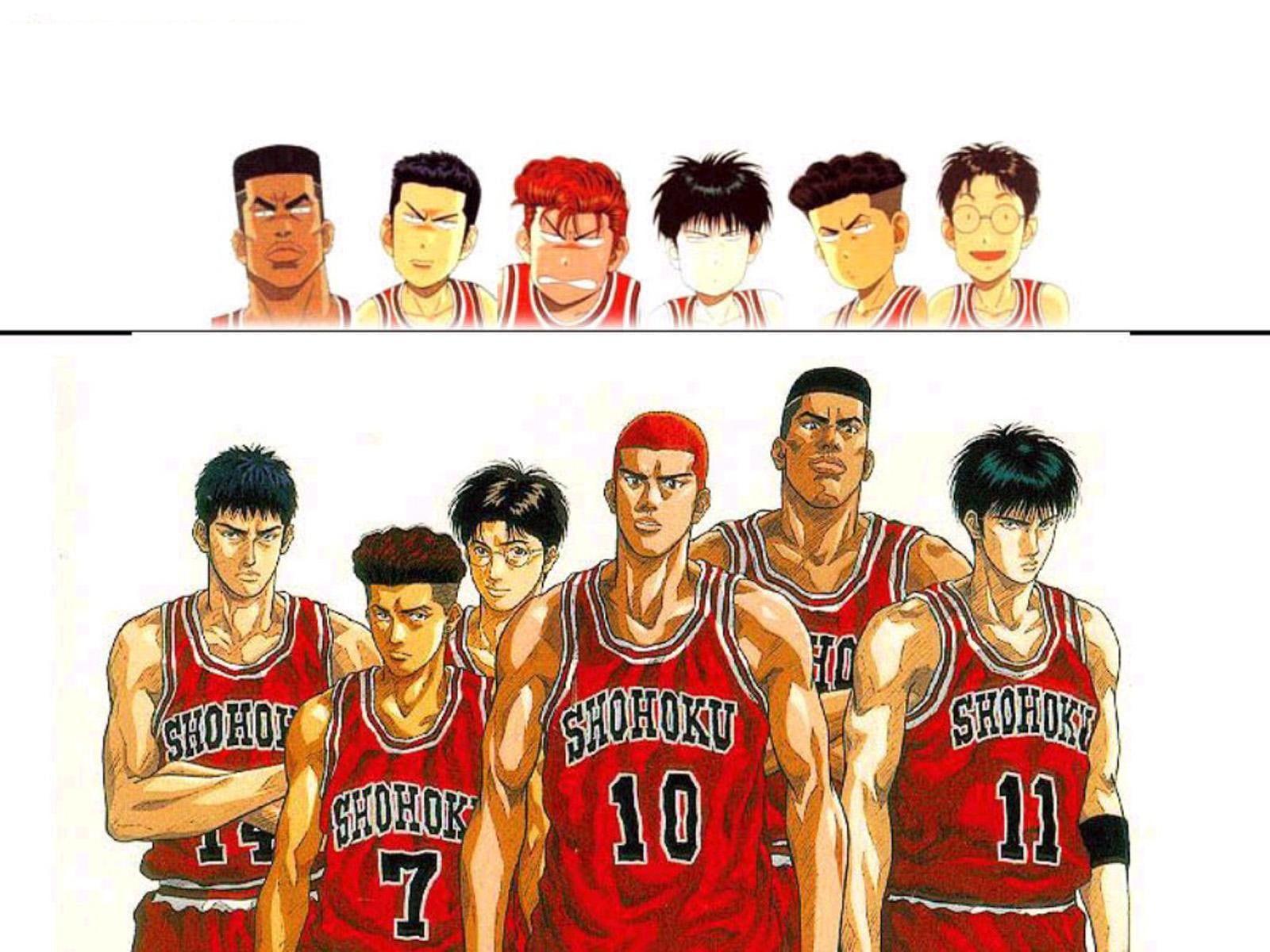 HD wallpaper: anime, basket, cartoon, kid, serial, slam Dunk