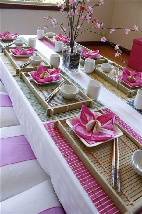 Papel Adesivo De Moveis ~ ideias para jantar japon u00eas Artesanato inteligente Pinterest Jantares, Mesinhas e Mesa posta