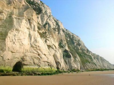 Falaises Au Pied Du Blanc Nez A Maree Basse Guide Du Tourisme Du Nord Pas De Calais Parc Naturel Regional Parc Naturel Paysage De Dunes