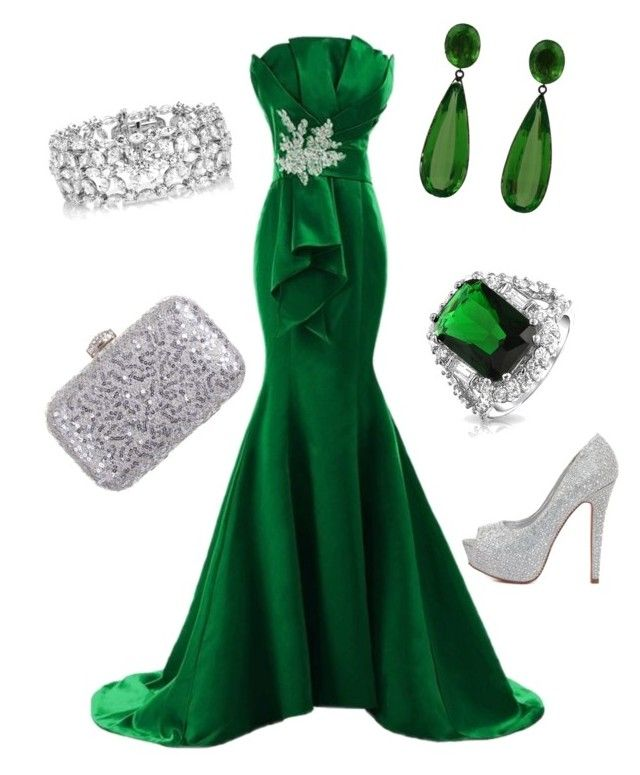 Emerald City by rene-moss on Polyvore featuring polyvore, moda, style, Charlotte Russe, Rainbow Club, Bling Jewelry and Kwiat