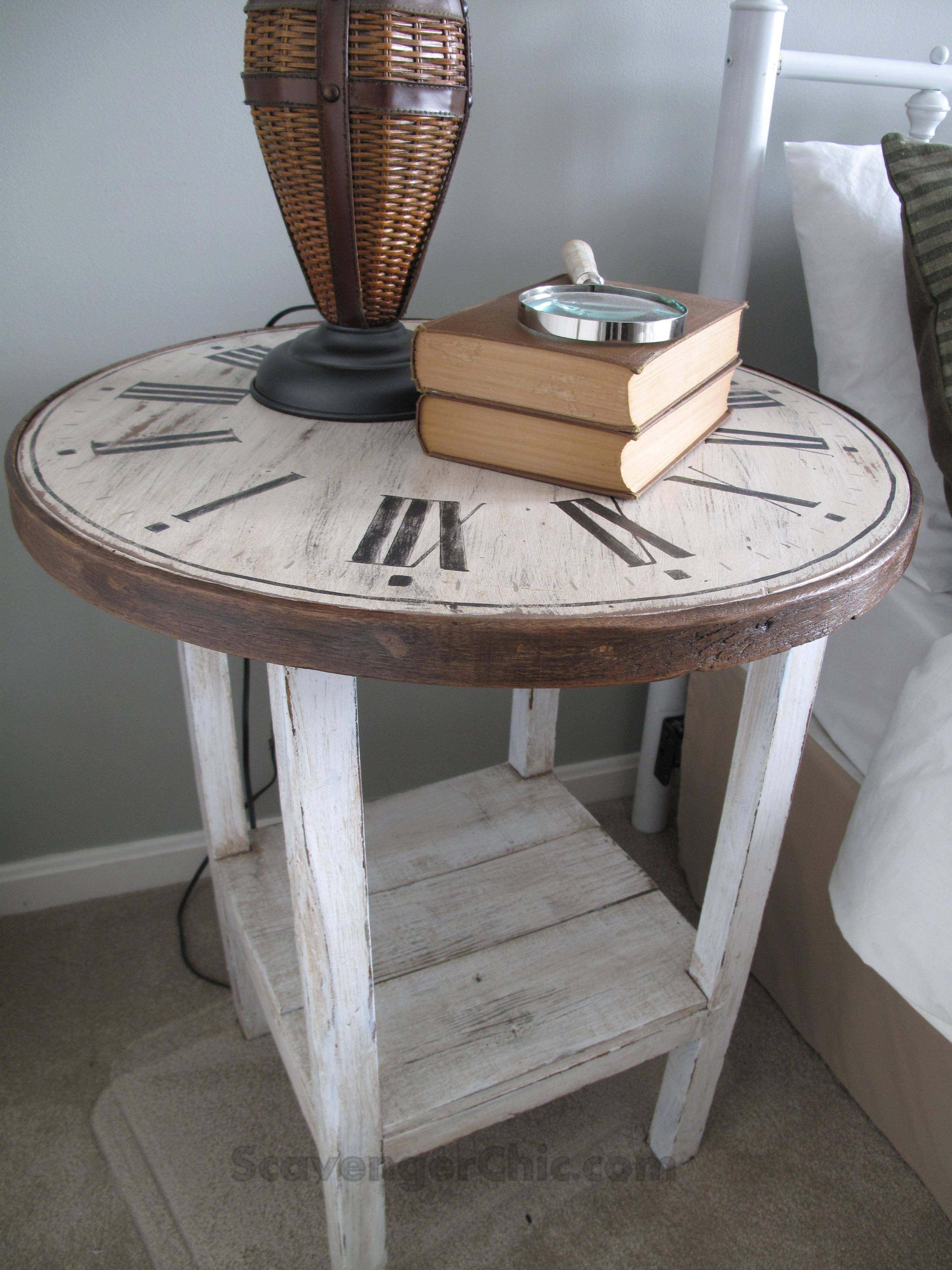 clock table from a flea market find diy table makeover on trends minimalist diy wooden furniture that impressing your living room furniture treatment id=84151