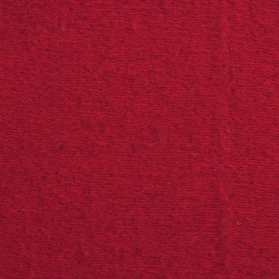 "Herno Red Knit Wool Coating | Mood Fabrics     Knit with piled woolen yarns running horizontally across its surface, here is a fabulous and fuzzy wool knit derived from the famous fashion label Herno. Containing a soft backing, a flexible drape and a nice stretch in the weft, turn this designer wool into sweaters, capes, coats, etc. The addition of a lining remains dependent on personal preference and construction details.   Color: Red Width: 60"" Content: WOOL Designer: Herno"