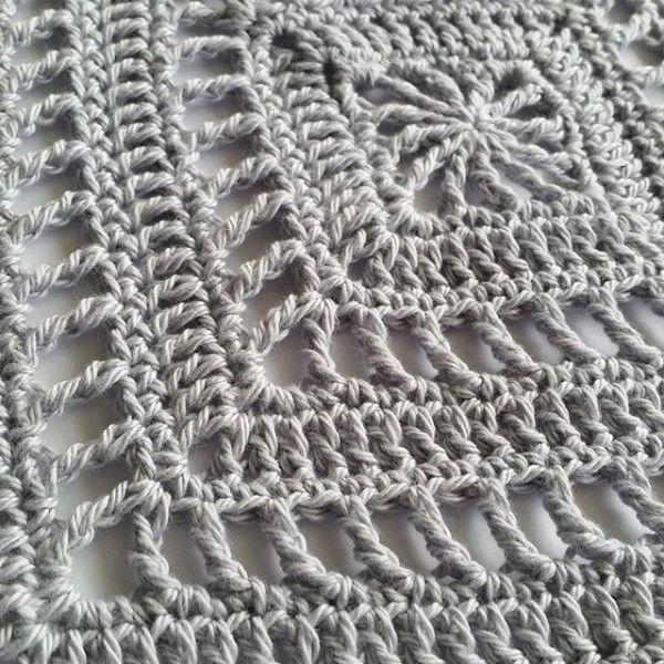 Meditative #crochet square pattern for mindfulness crochet by ...