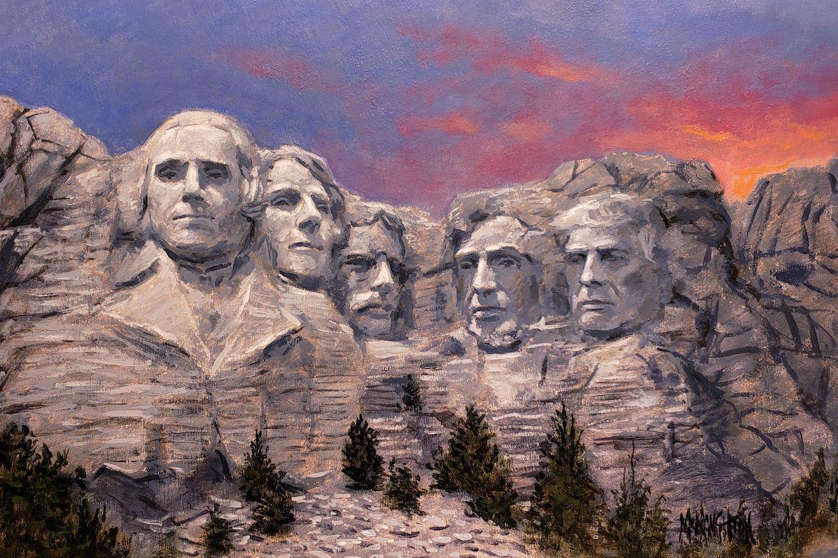 Trump Rushmore 10x15 Inch Litho Open Edition Canvas Giclee Fine Art Jon Mcnaughton