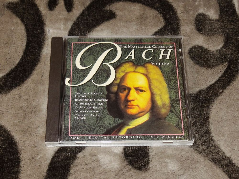 *25-CENT CD* The Masterpiece Collection by JS Bach (CD, Oct-1997, Regency Music) #SuiteConcertoToccataPassion