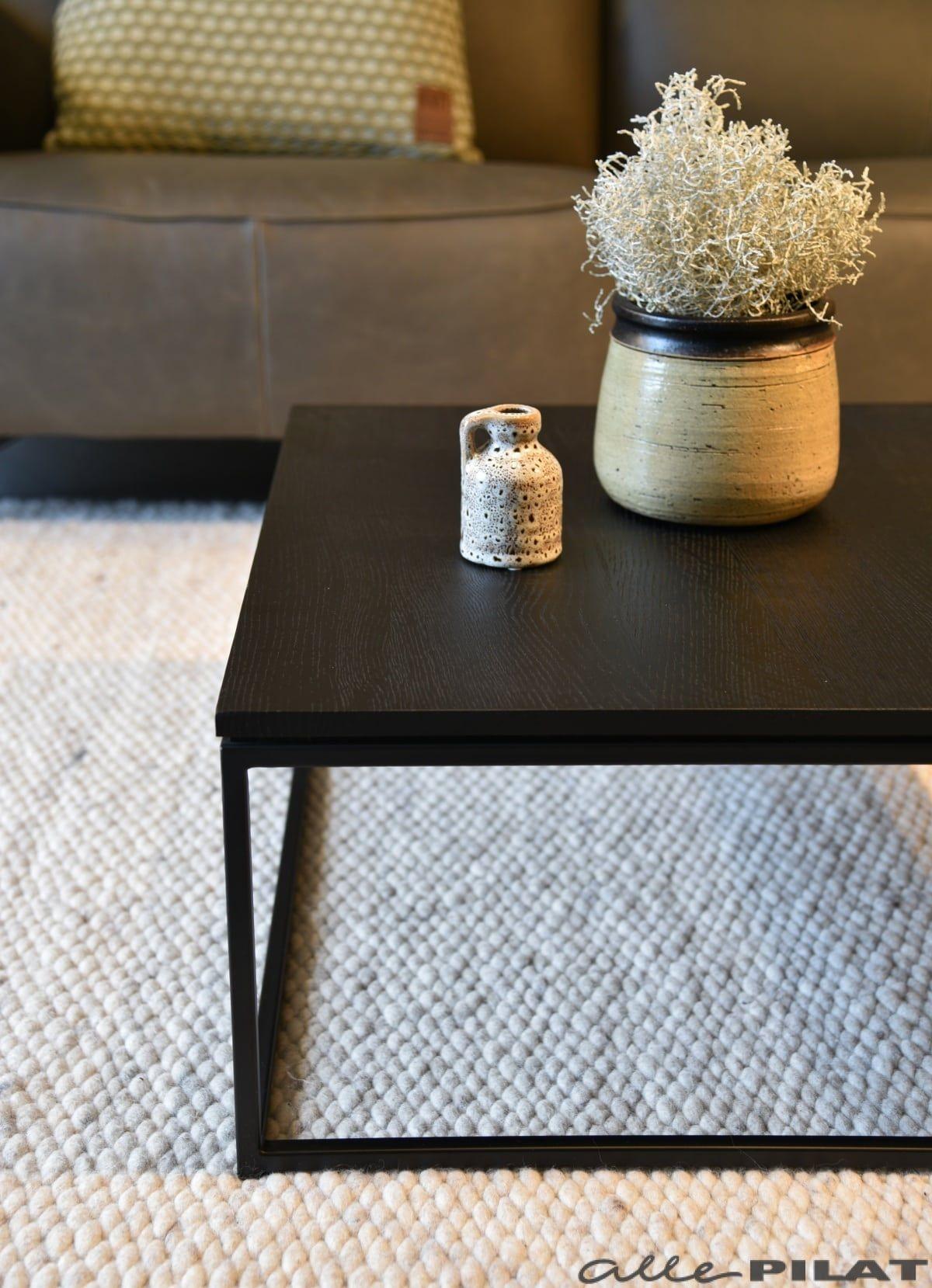 Vierkante Moderne Salontafel.Zwarte Vierkante Salontafel Black Van Eikenhout Woonwinkel