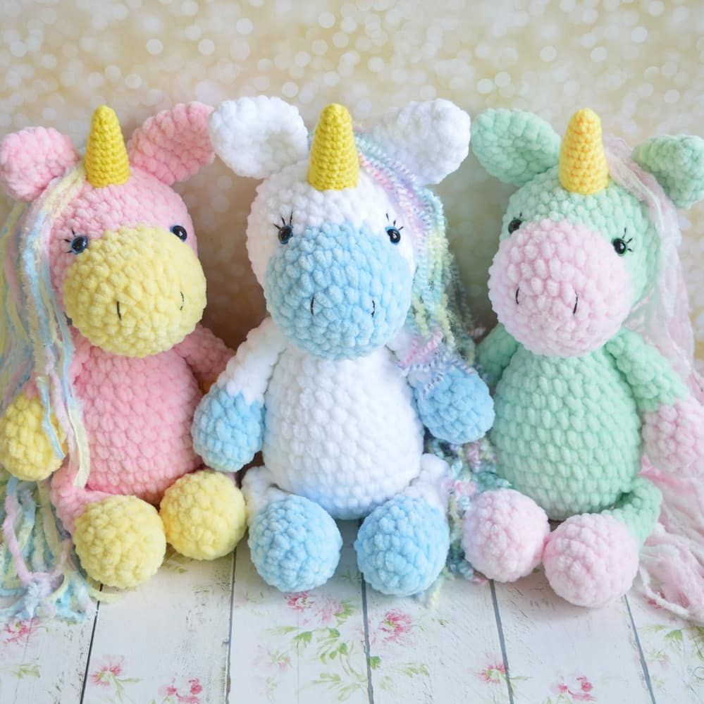 CROCHET PATTERN in English Betsy the Big Unicorn 21.5 | Etsy | 999x999