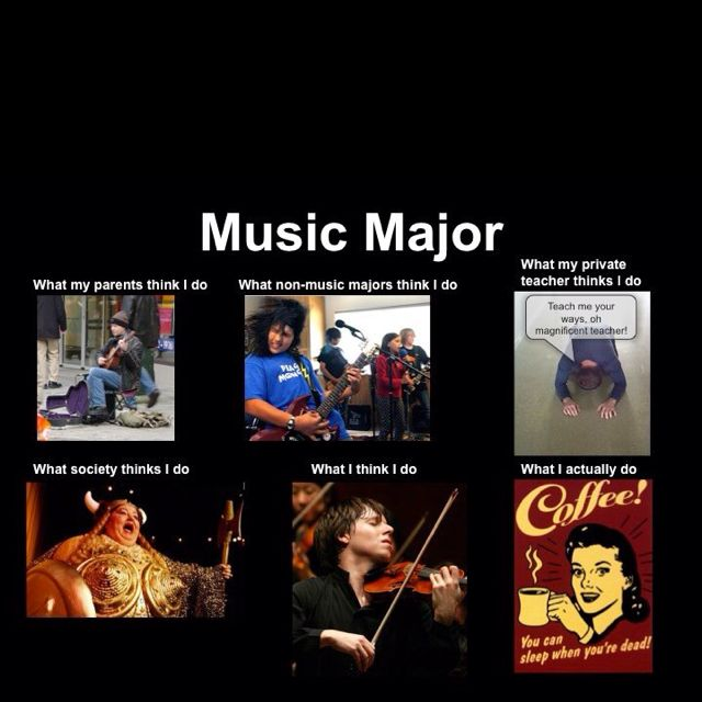 Music major in college