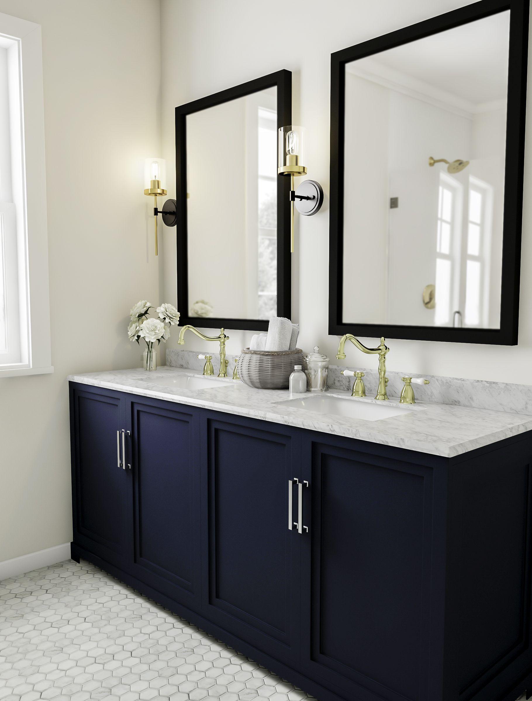 Impress Your Visitors With These 14 Cute Half Bathroom Designs Bathroom Vanity Decor Bamboo Bathroom Bathroom Design Decor
