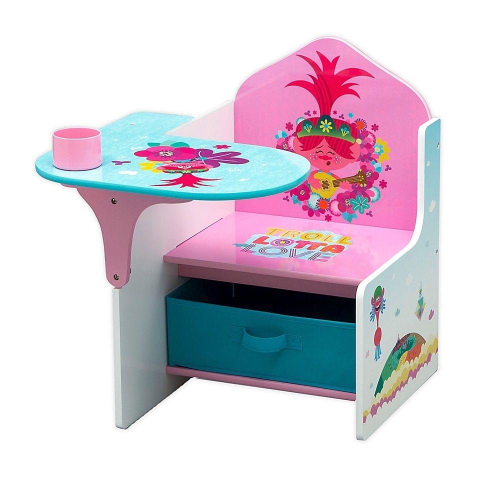 Trolls World Tour Chair Desk With Storage Bin Buybuy Baby In 2020 Fabric Storage Bins Storage Bin Desk Storage