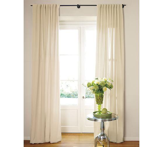 Cameron Cotton Pole-Pocket Drape | Pottery, Barn and Living rooms