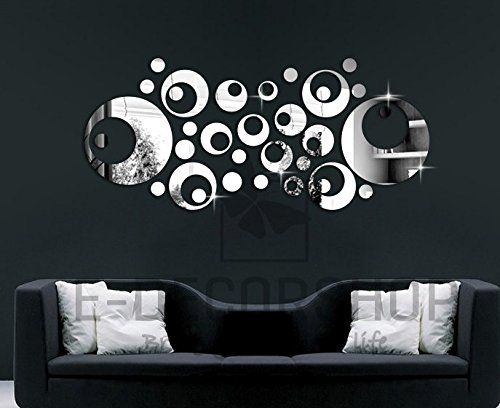 Modern Fashional Mirror Clock Wall Decal Home Decor For Living Room Bedroom Art Stickers ColorfulHall