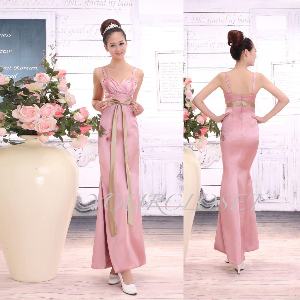 Elegant satin halter prom dress #pink #prom #bridesmaid #dress ...