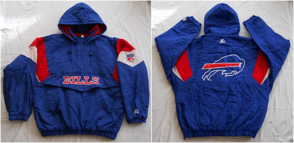 d143a238 Vintage early 90s Buffalo Bills pullover parka by Starter. Men's XL ...