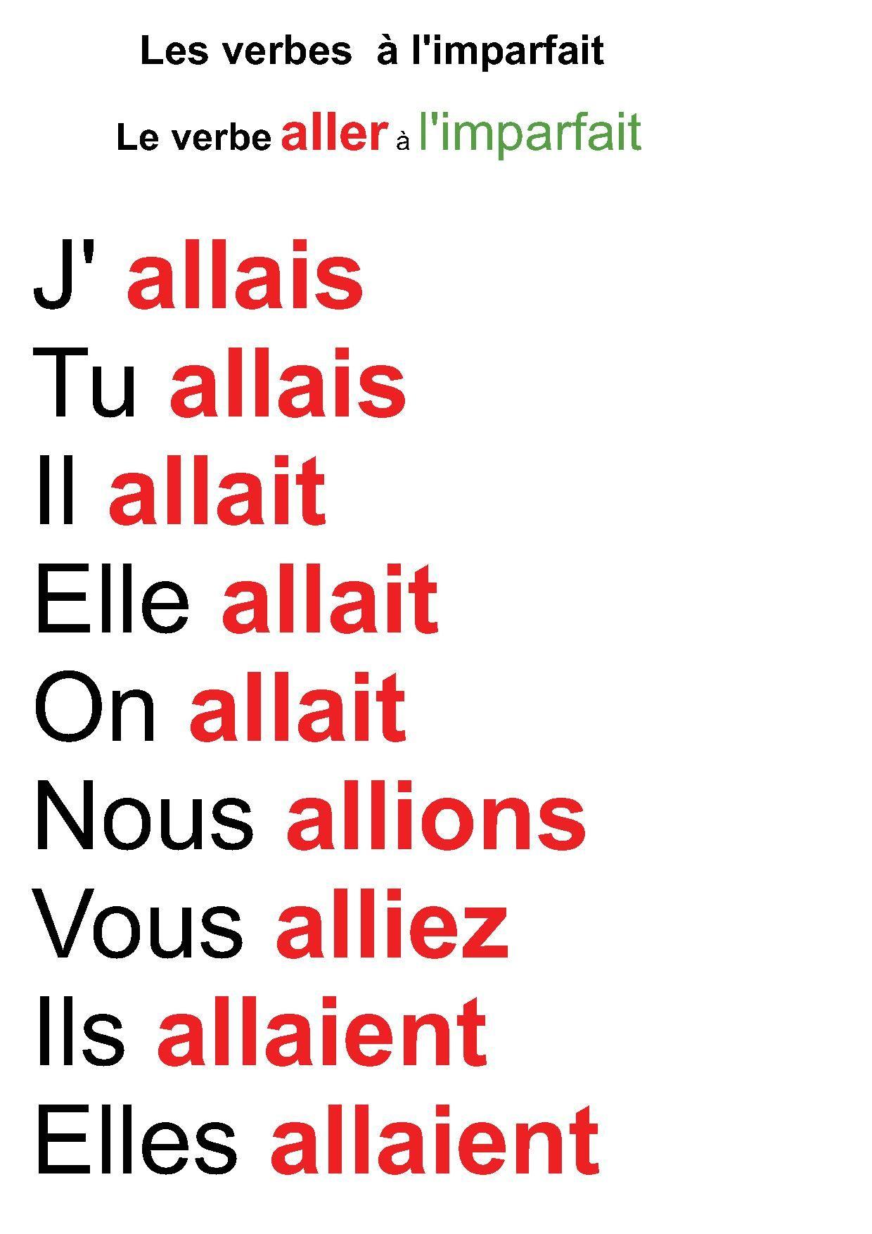 affiche-verbe-aller-a-l-imparfait.jpg (1240×1754 ...