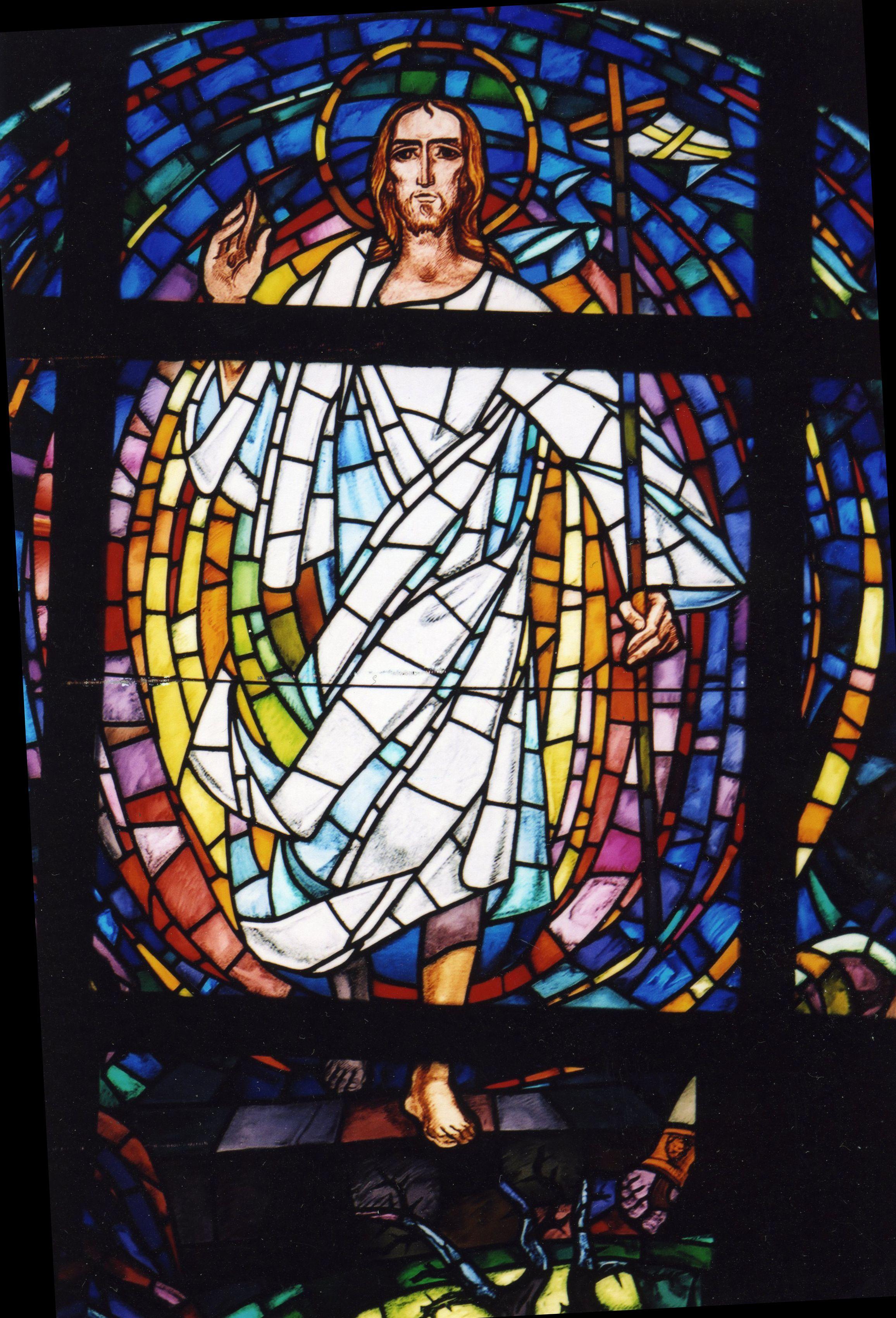 resurrection window above the altar st demetrios greek orthodox