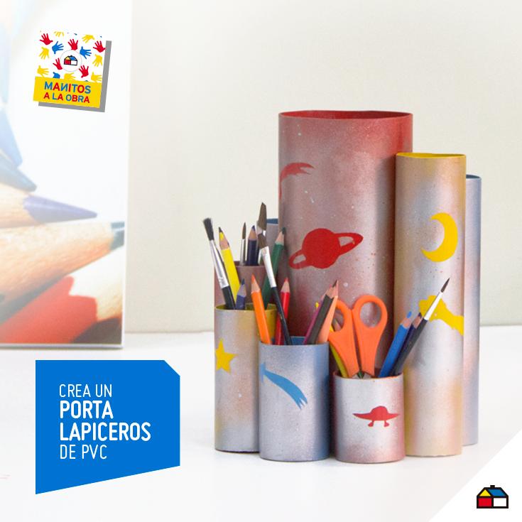 ¡Arma un divertido y útil portalápices de PVC! #Sodimac #Homecenter #Peru #juego #juguete #imaginación #balsa #ManosAlaObra #ManitosAlaObra