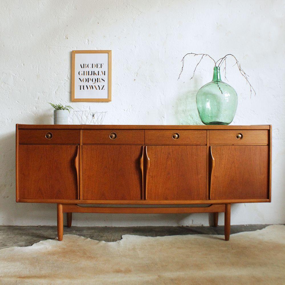 Enfilade Teck Anglaise Vintage G550 En 2020 Enfilade Decoration Maison Idees De Decor