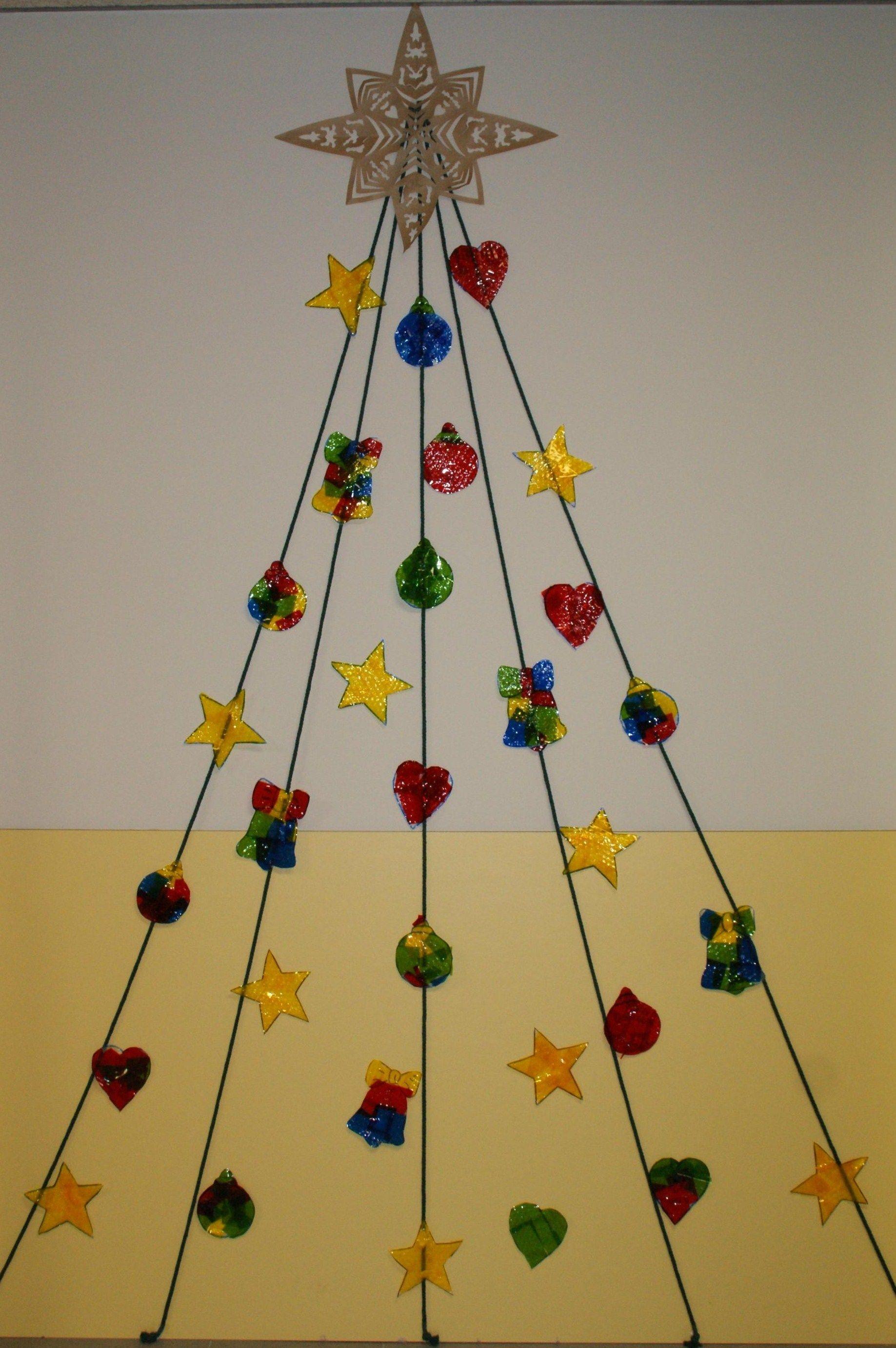 Arbre de nadal per decorar una porta paret passads decoraci