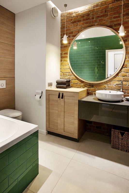 Wiszace Lampy Przy Lustrze Jak Urzadzic Lazienke Aranzacja I Wystroj Wnetrz Shower Remodel Round Mirror Bathroom Bathroom Design