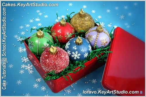 Tutorial: Christmas Ornaments Cupcakes