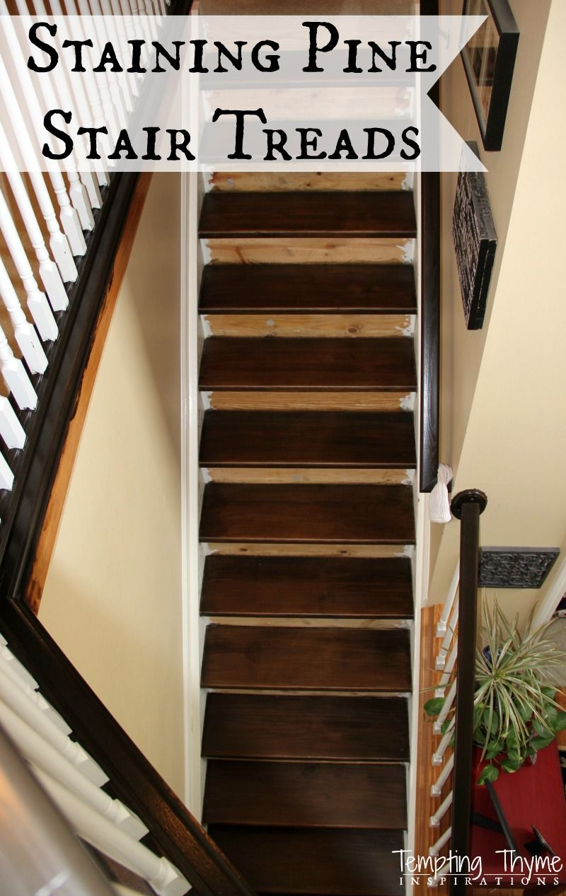 Best How To Stain Pine Stairs Pine Stair Treads Staining 400 x 300