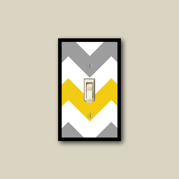 Excellent Chevron Wall Decor Yellow And Gray Chevron Switch Plate Download Free Architecture Designs Meptaeticmadebymaigaardcom