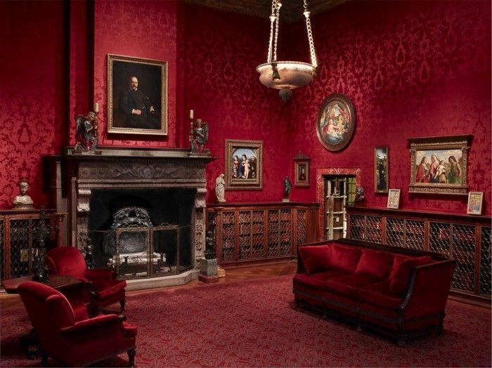 Bordeaux Farbe Und Ihre Wirkung Im Bezug Auf Raumgestaltung Gothic