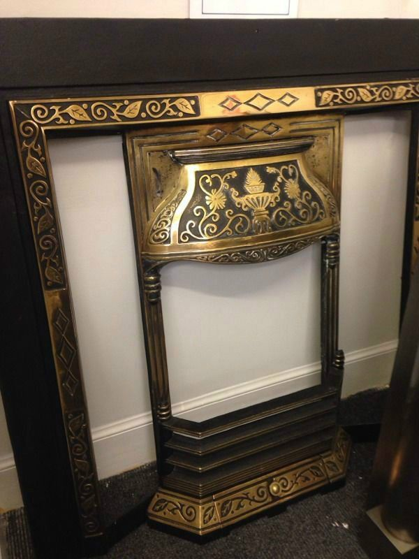 Phenomenal Solid Brass Victorian Tiled Fireplace Insert Fully Download Free Architecture Designs Pushbritishbridgeorg