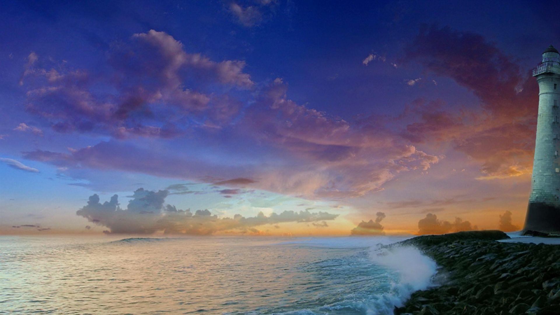 beacon, sea, coast - http://www.wallpapers4u.org/beacon-sea-coast/