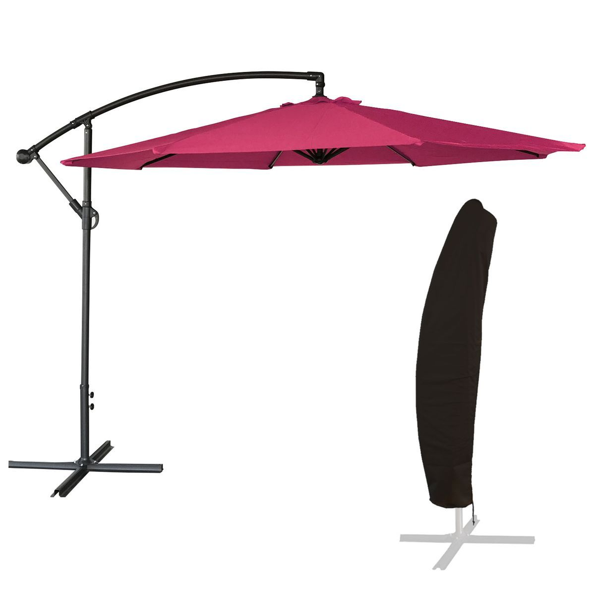 Inclinable YOUKE Parasol sans Socle Piscine Diam/ètre en Arc 2 m Ext/érieur Terrasse Bleu Balcon Droit Plage Tissu Oxford Octogonal Jardin