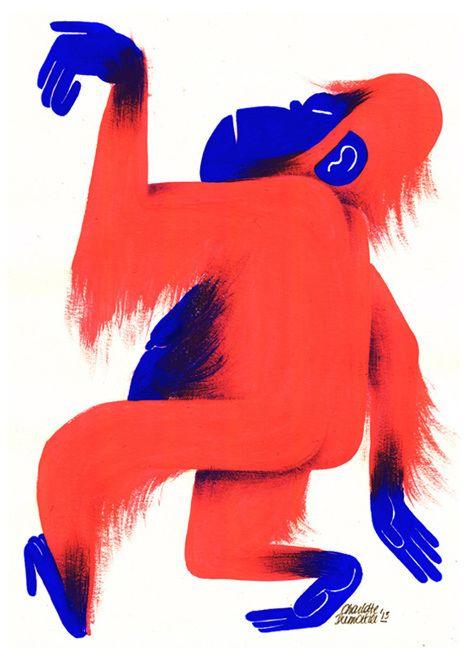 Monkey - Charlotte Dumortier - Illustration - Comics - Idée - Sympathique - Harmonie - Couleur