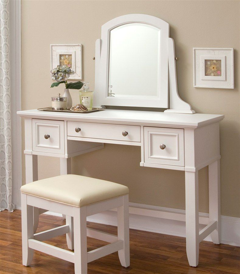 Naples Vanity Table in White Finish Make-up table here ya go Bec