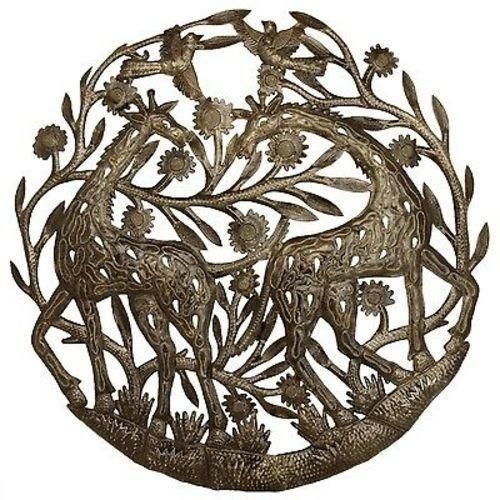 The Giraffes Metal Wall Art - Croix des Bouquets  sc 1 st  Pinterest & The Giraffes Metal Wall Art - Croix des Bouquets | Metal wall art ...