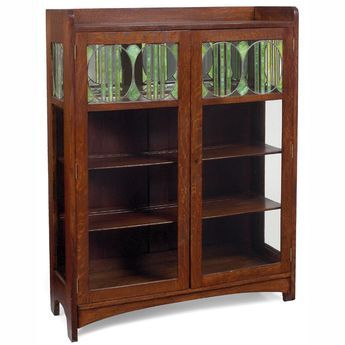 glass form furniture pools arts crafts china cabinet twodoor form with leaded glass panels at top