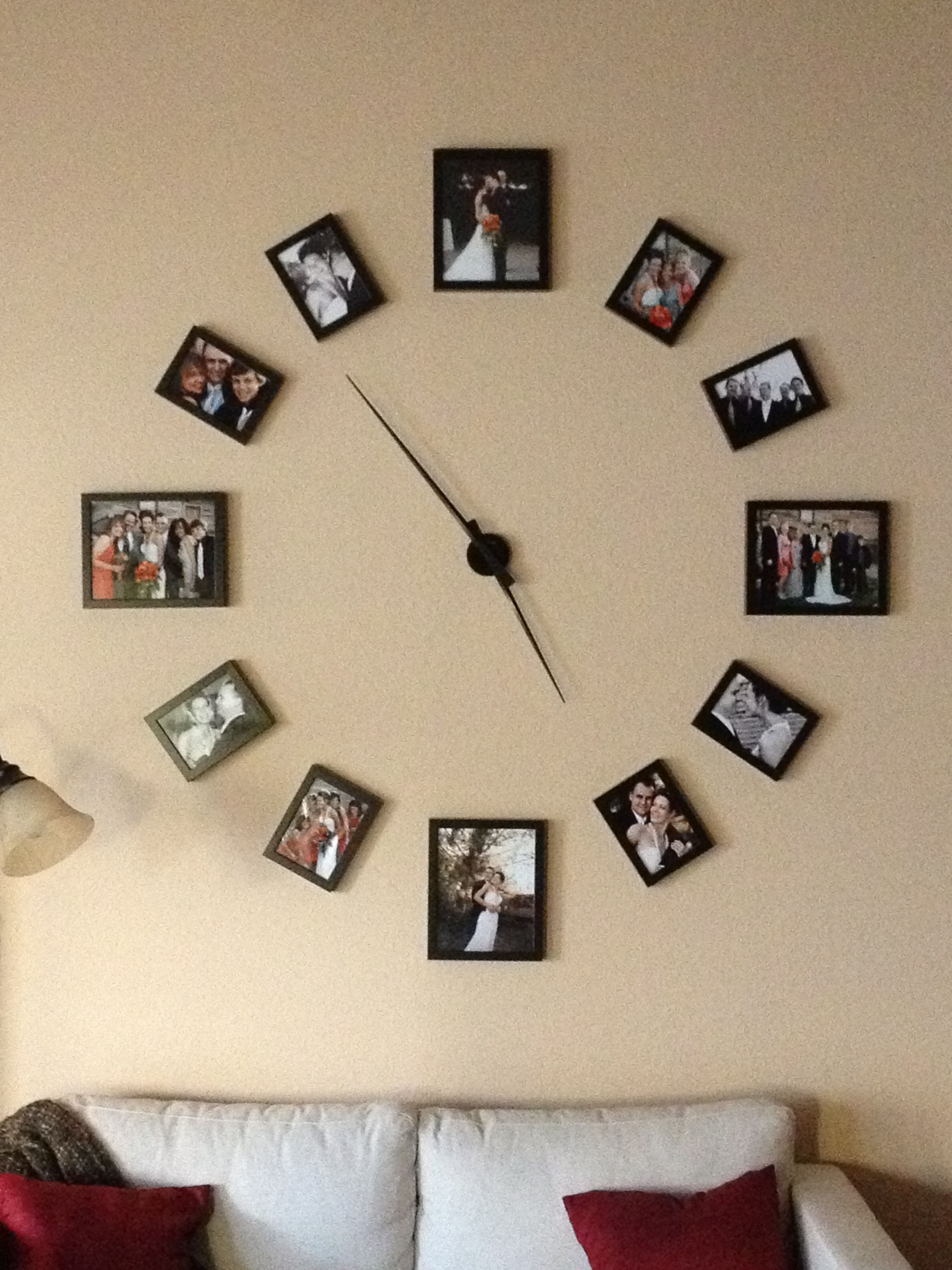 Am americana country wall clocks - Really Cool Huge Wall Clock What A Great Way To Display Lots Of Photos