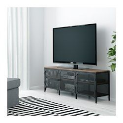 Tv board ikea holz  IKEA - FJÄLLBO, TV-Bank, , Diese rustikale, offene TV-Bank aus ...