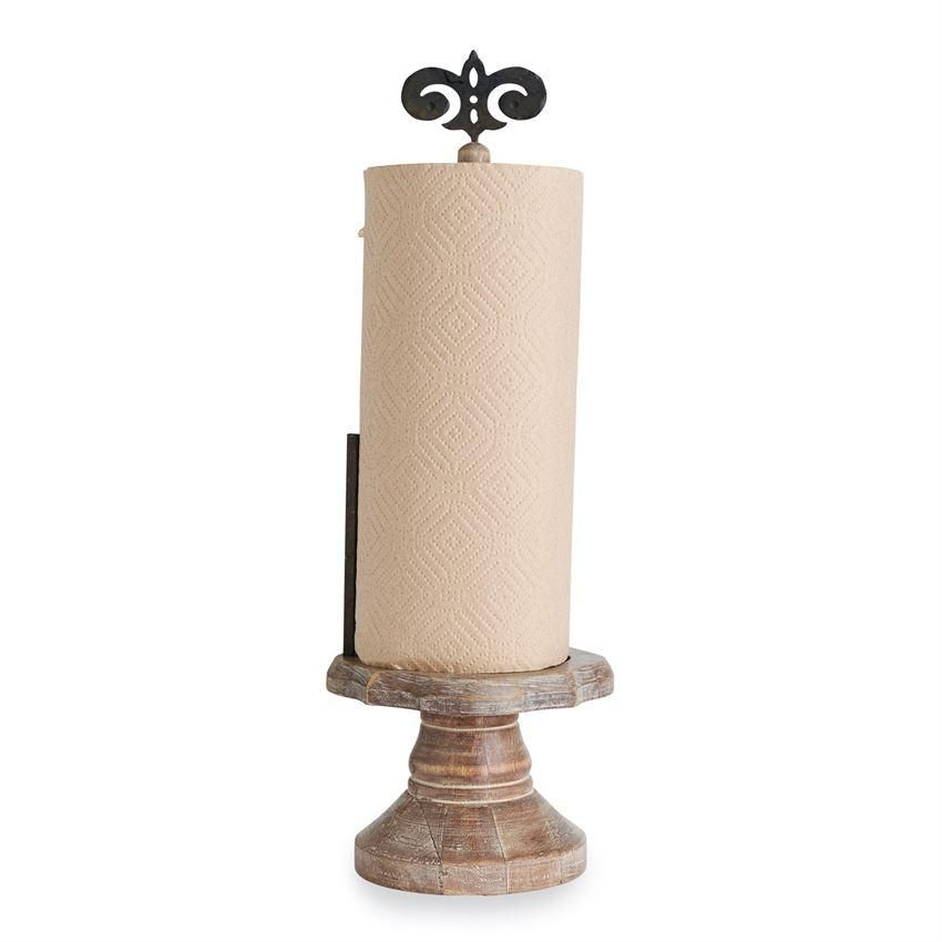 Our French Country Fleur De Lis Paper Towel Holder Would Look Fantastic In Any Style Kitchen I Paper Towel Holder Towel Holder Vintage Kitchen Decor Farmhouse