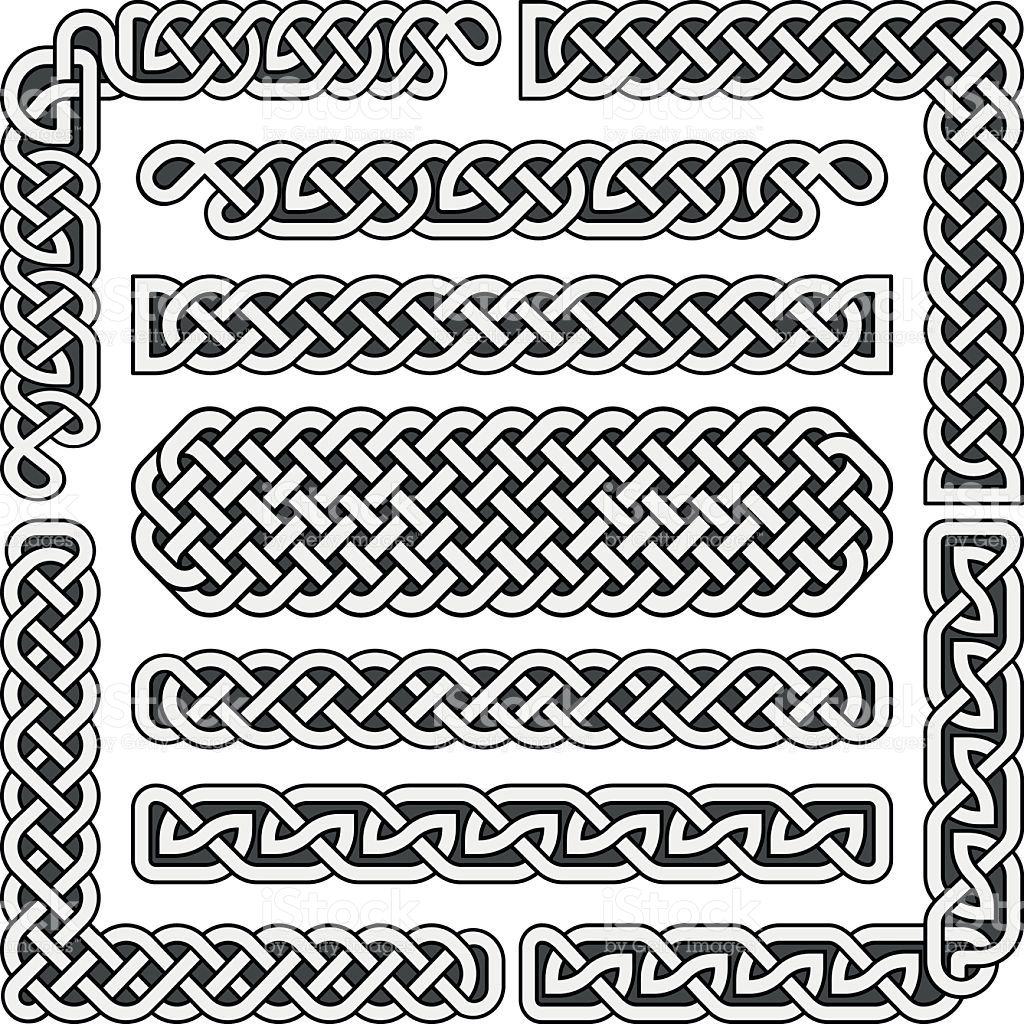 celtic knots medieval seamless borders patterns and ornament rh pinterest ca